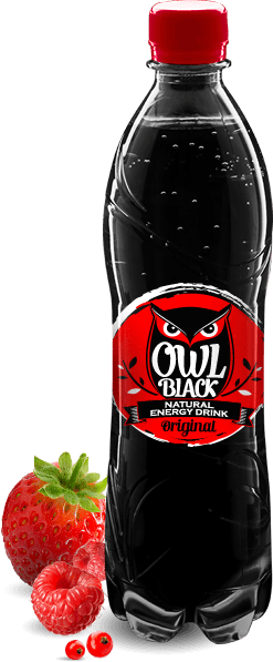 Owl Black - Natural energy drink - Original